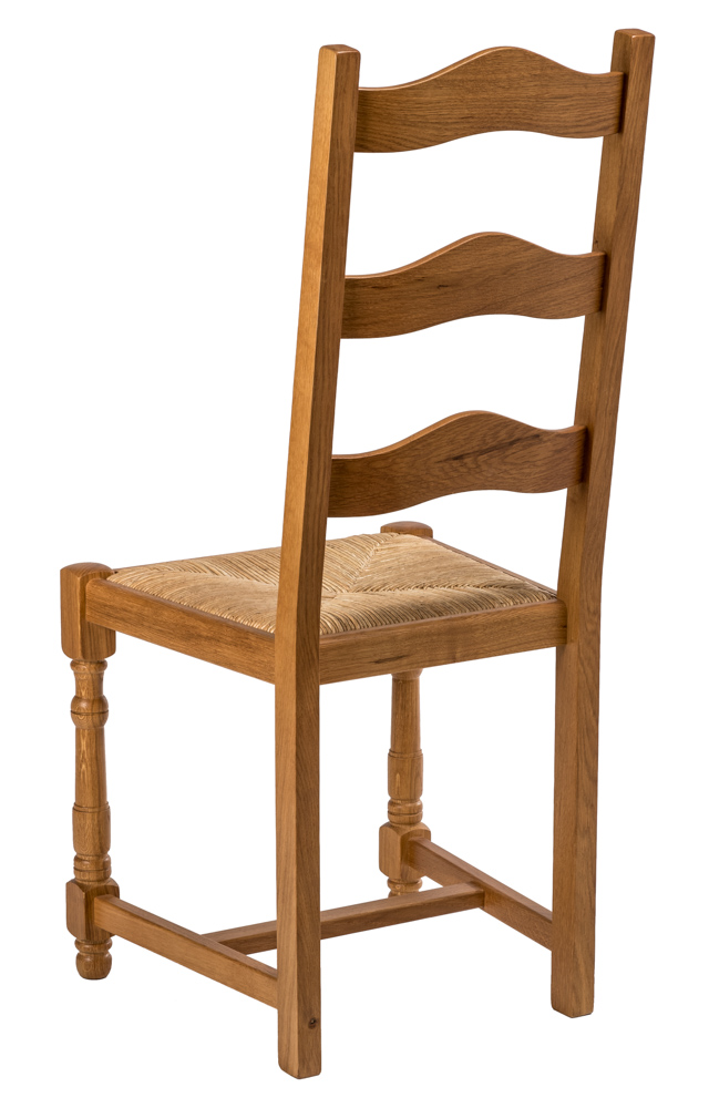 chaise rustique en ch ne massif chaises. Black Bedroom Furniture Sets. Home Design Ideas