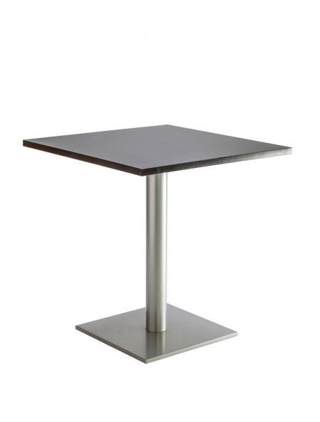 table bistrot carrée pied central métal